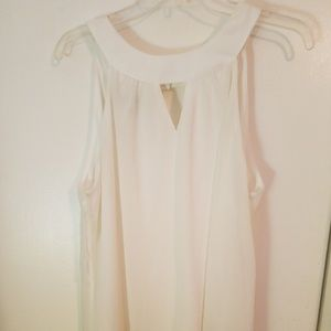 XL Off white tank with lace bottom